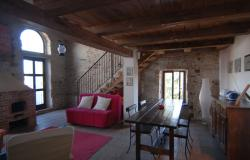 In an ancient Piemontese hamlet, a perfect, tastefully renovated semidetached townhouse comprising two apartments. RCG001 9