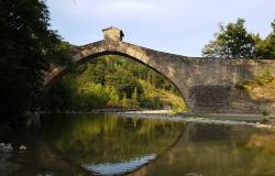 Ancient bridgel linking the cities of Pistoia and Modena