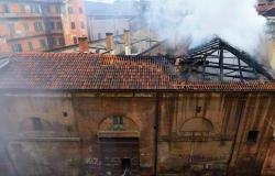 Cavallerizza Reale Turin on fire