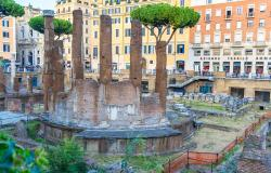 Archeological site of Largo Argentina in Rome