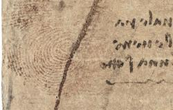 Leonardo's thumbprint on drawing from Royal Collection
