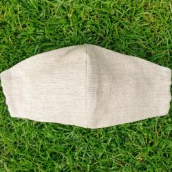 Linen mask with adjustable elastic straps