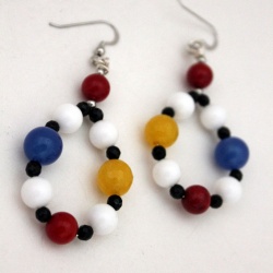 Earrings 'Mondrian' 1