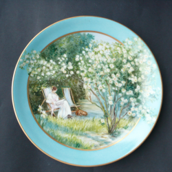 Pair of plates with landscapes 1