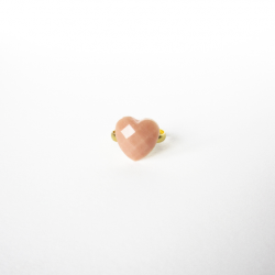 Tiny PINK Powder HEART ring 1