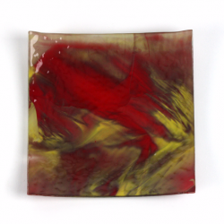 Glass Plate red yellow 1