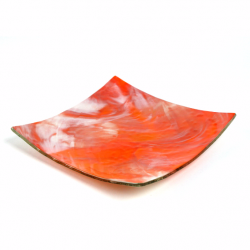 Glass Plate orange white 2