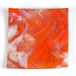 Glass Plate orange white 1