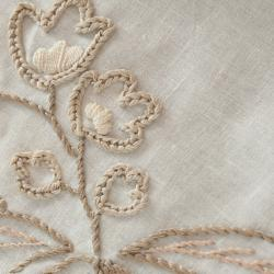 Detail of hand embroidered flower