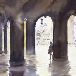 Venice will always have a place in our hearts, the city of love and romance. This painting of my wife Susan is one of my favourites.