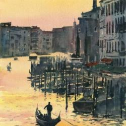 Painting and Prints of Venice, Romance in Venice, Gondolas, Grand Canal, Art Italy, Paintings of Italy