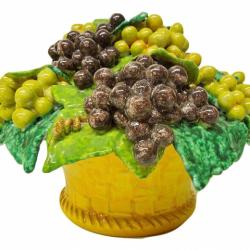 Bonechi Imports Tuscan ND Dolfi Grapes Fruit Basket Centerpiece 1
