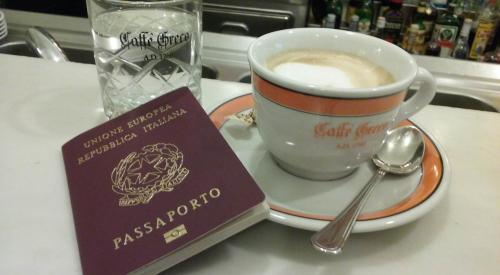 Cappuccino and Italian passport