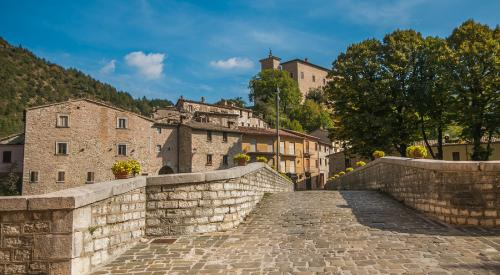 The medieval village of Piobbico in Le Marche