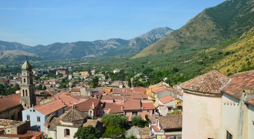 The village of Venafro in Molise Italy