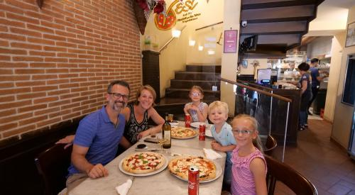 Bronski family in Neapolitan pizzeria