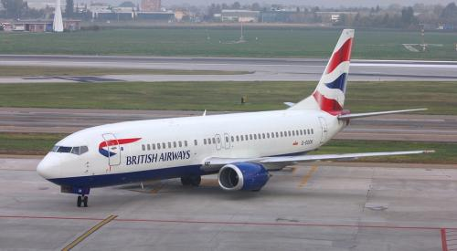 British Airways plane on Italian runway