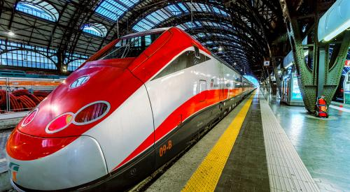 Frecciarossa in Italian train station