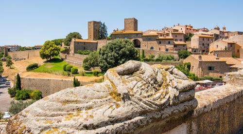 View of Tuscania village in Lazio Italy