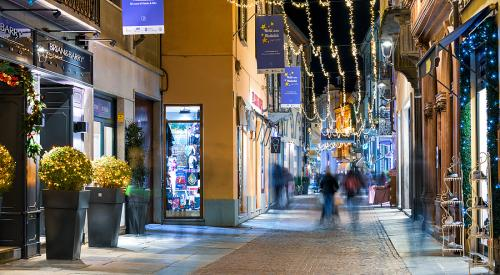 Christmas lights in Alba Italy