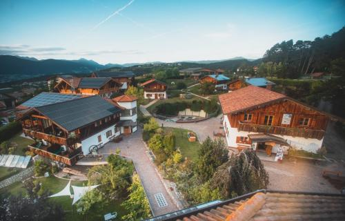Hotel Pineta in Trentino as seen from above