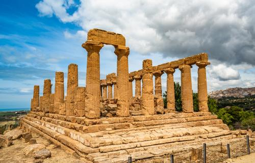 Temple of Juno in the Valley of the Temples Agrigento Italy