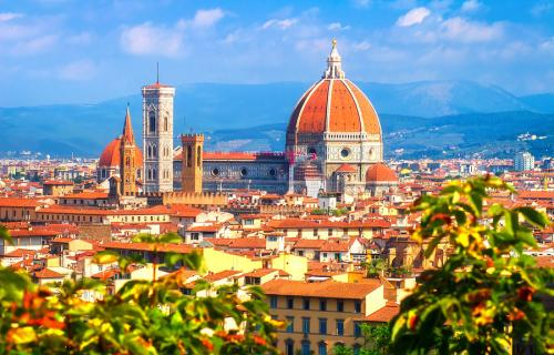 Iconic view of Florence's Duomo complex