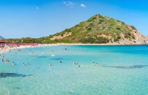 Cala Monte Turno beach in Sardinia Italy