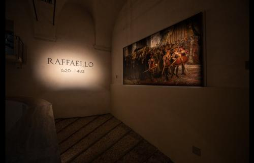 A room from Raphael's exhibition at Scuderie del Quirinale in Rome