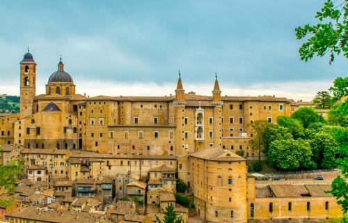 Panoramic view of Urbino Italy