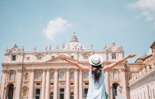 girl in Vatican