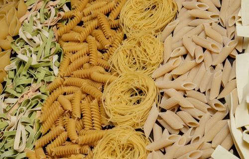 Pasta variety and shapes