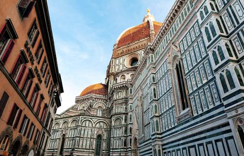 The side of Florence's Duomo