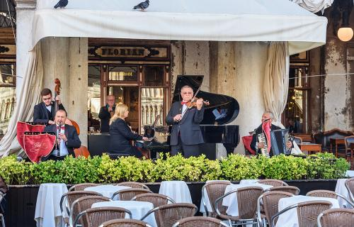 Orchestra playing at Caffè Florian in Venice