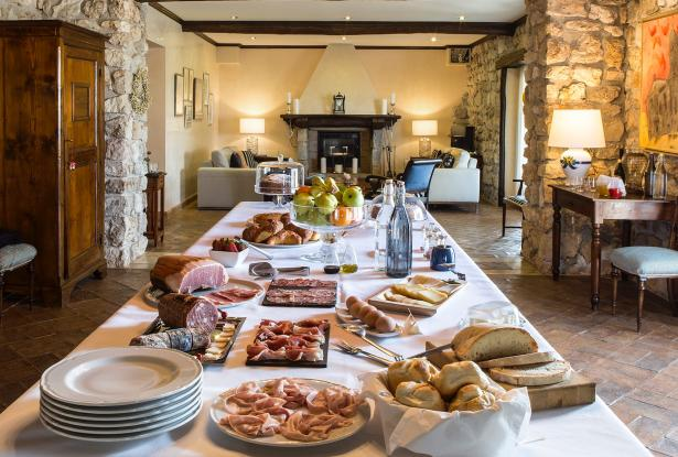Our full Italian breakfast in The Long Room