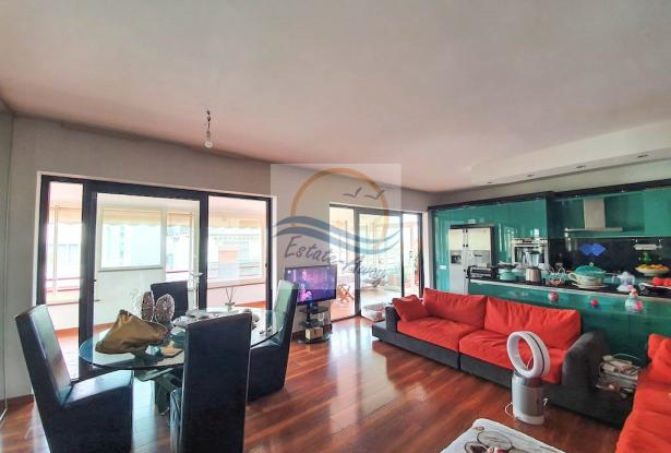 A1113 Penthouse with solarium and sea view for sale in Bordighera. 0