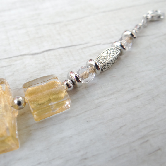 Murano Glass Bracelet - Cantóni gold 3