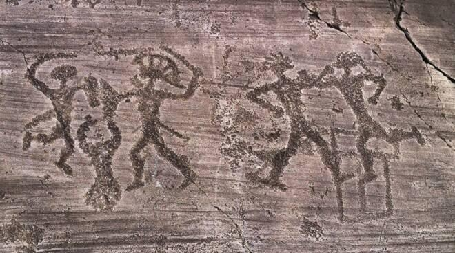 Rock drawings of Val Camonica Unesco site in Italy