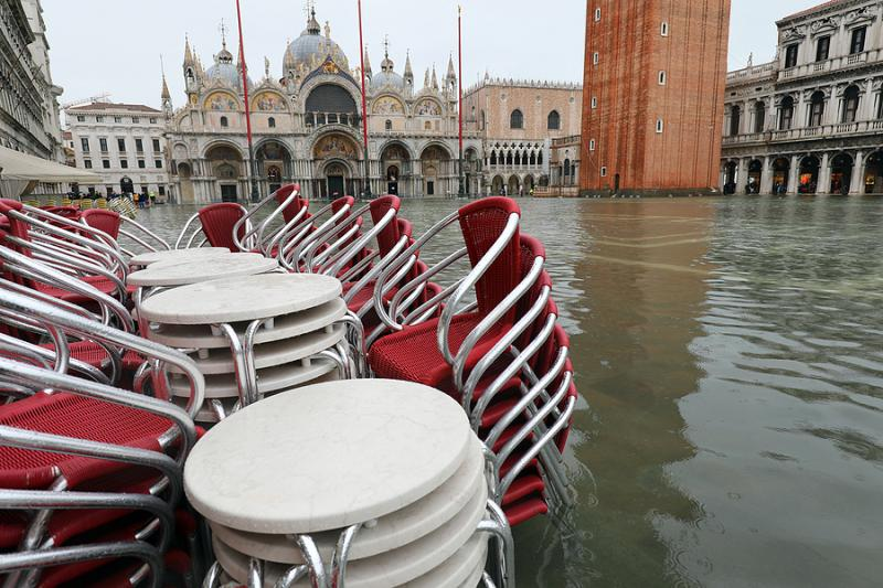 St. Mark's Square in Venice flooded
