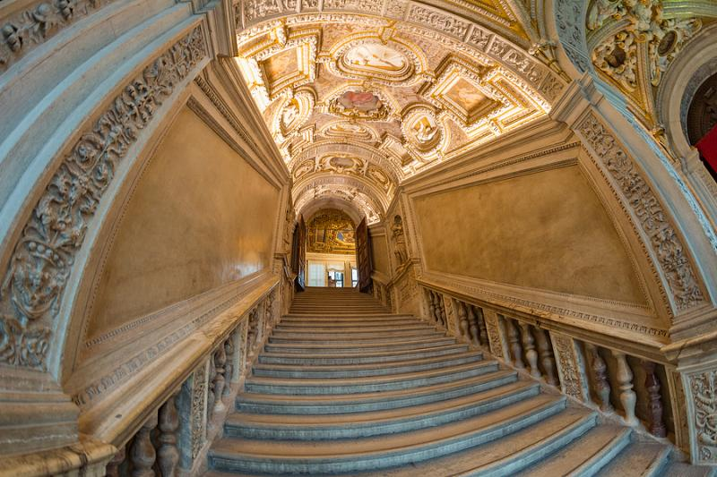 Staircase inside the Doge's Palace in Venice