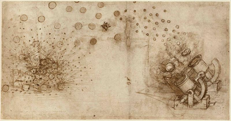 Sketch from Leonardo's Codex Atlanticus