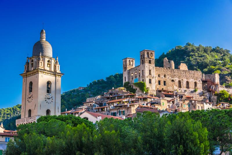The medieval village of Dolceacqua in Liguria Italy