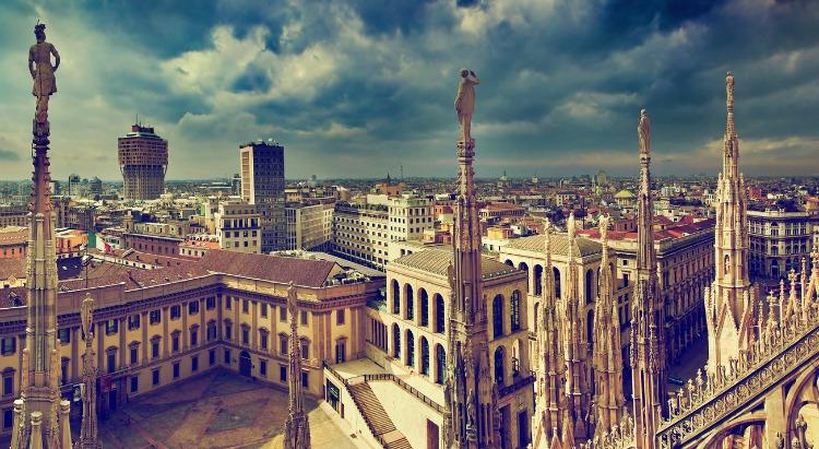 Milan - view from the Duomo