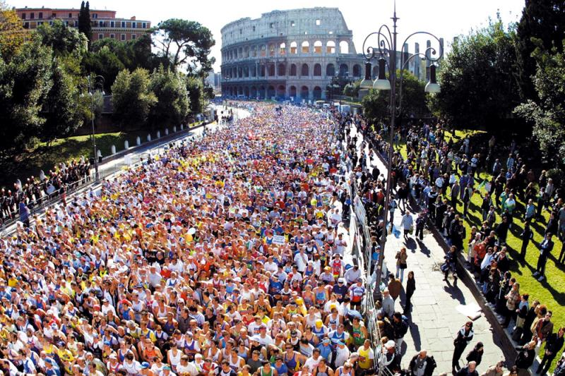 running a marathon in Italy