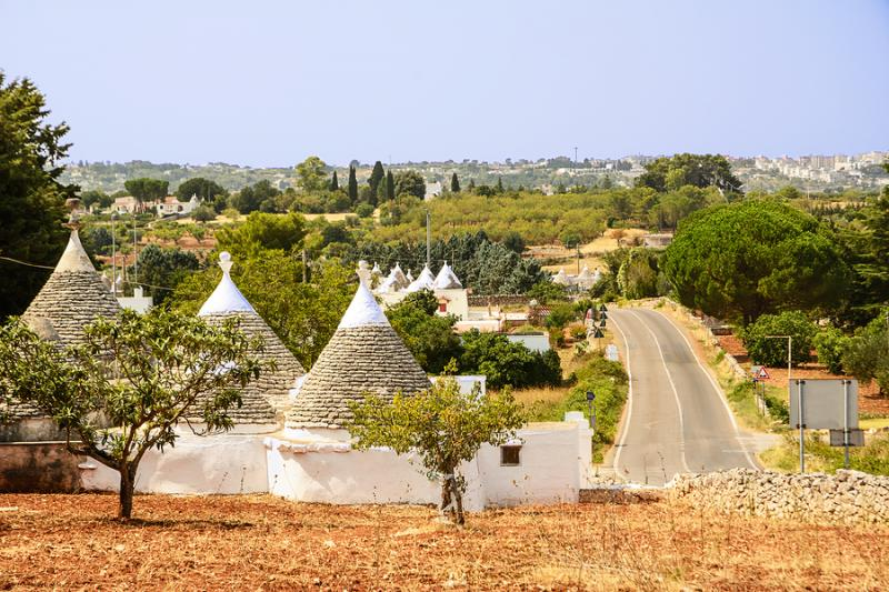 Countryside road in Puglia's Itria Valley