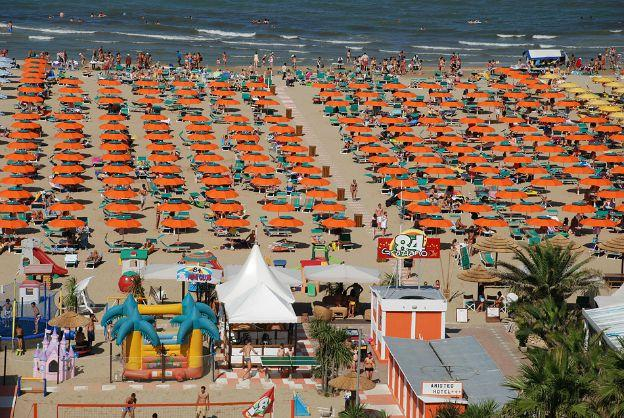 Beach on the Riviera Romagnola