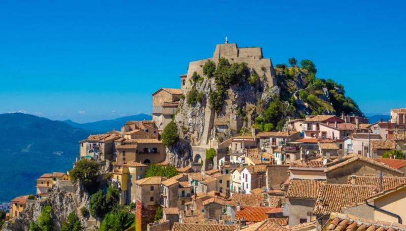 Village of Cervara di Roma in Lazio