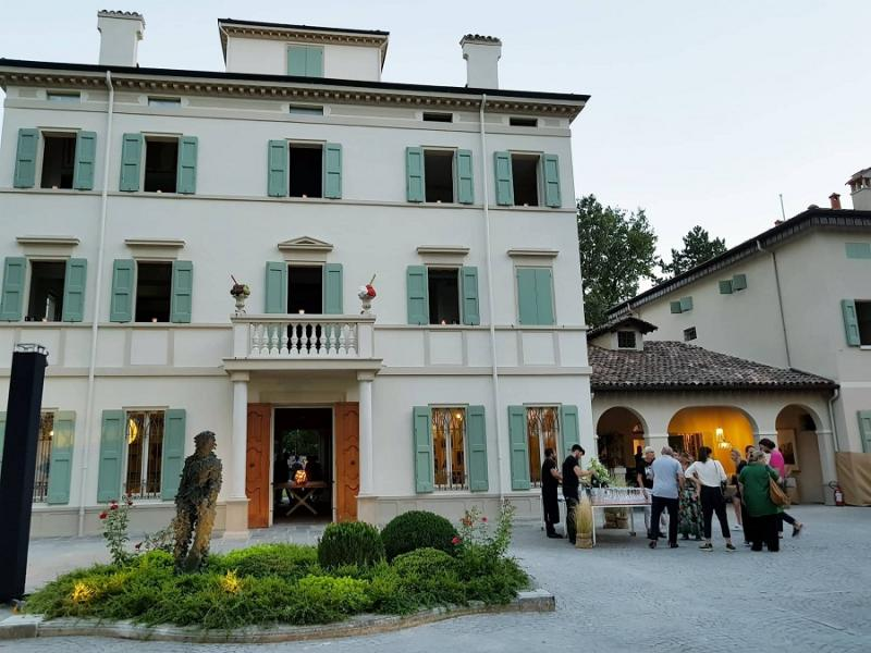 The garden of the Maria Luigia resort owned by Massimo Bottura