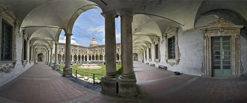 Ancient Benedictine Monastery in Catania