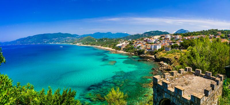 The coast of Palinuro in Cilento Campania Italy